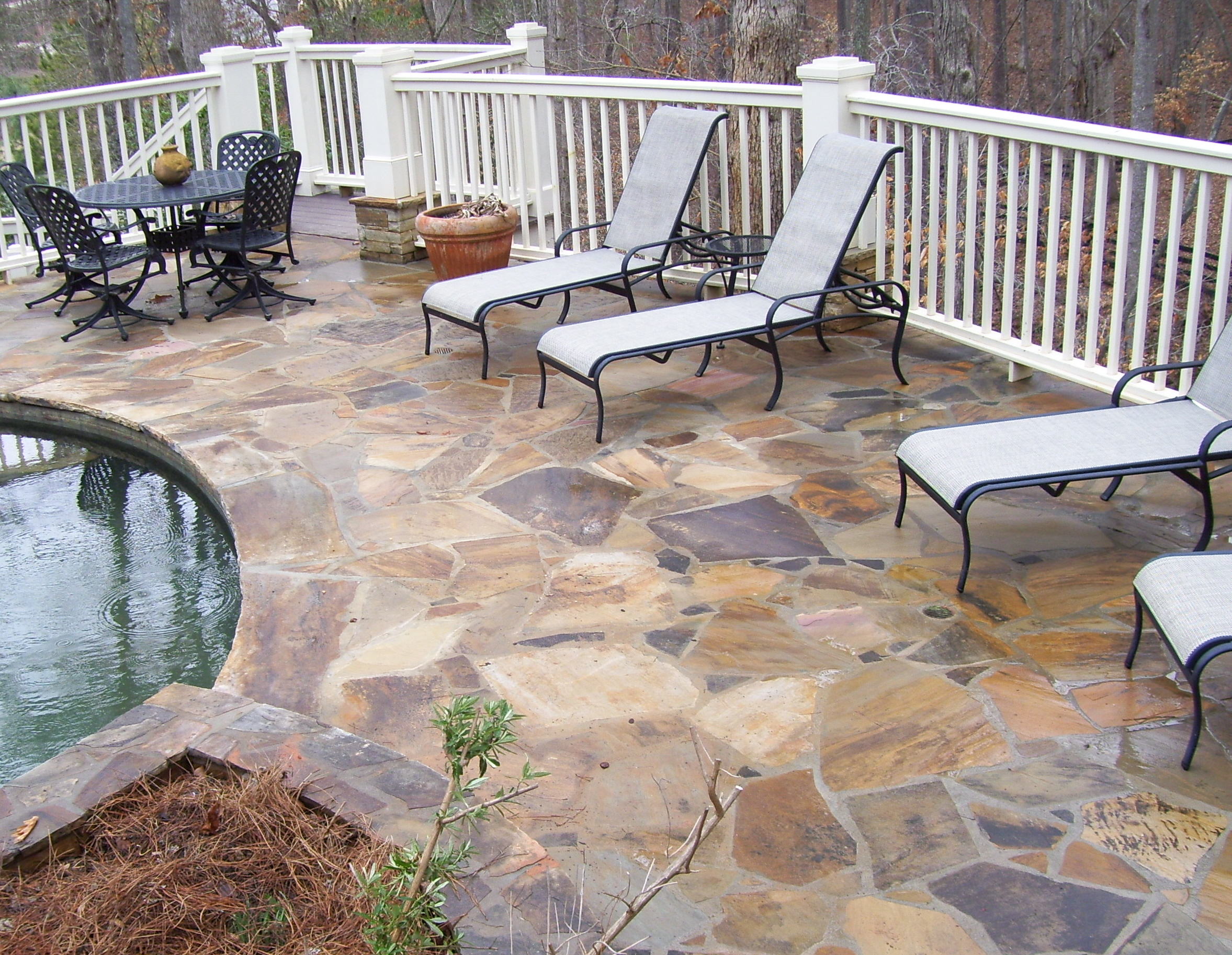 stone pool decks | Interior Design Ideas